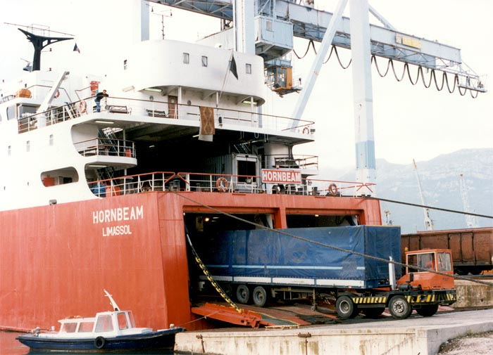 roro shipment showing truck being reversed into a vehicle carrier involved in shipping to australia
